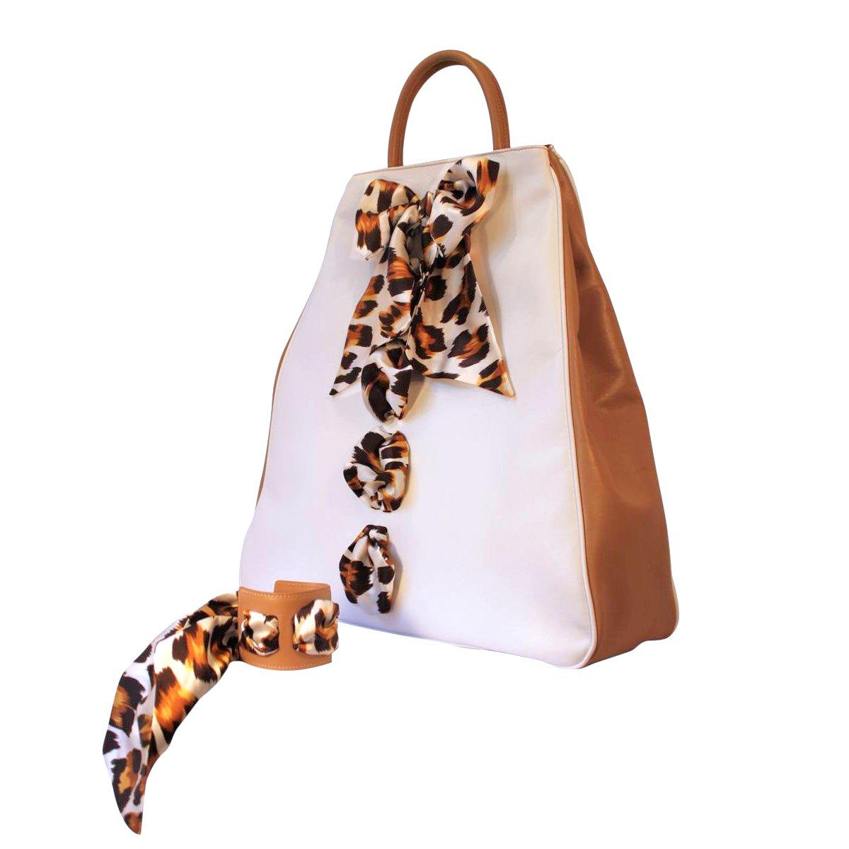 Bag Claudia colour white and  leather